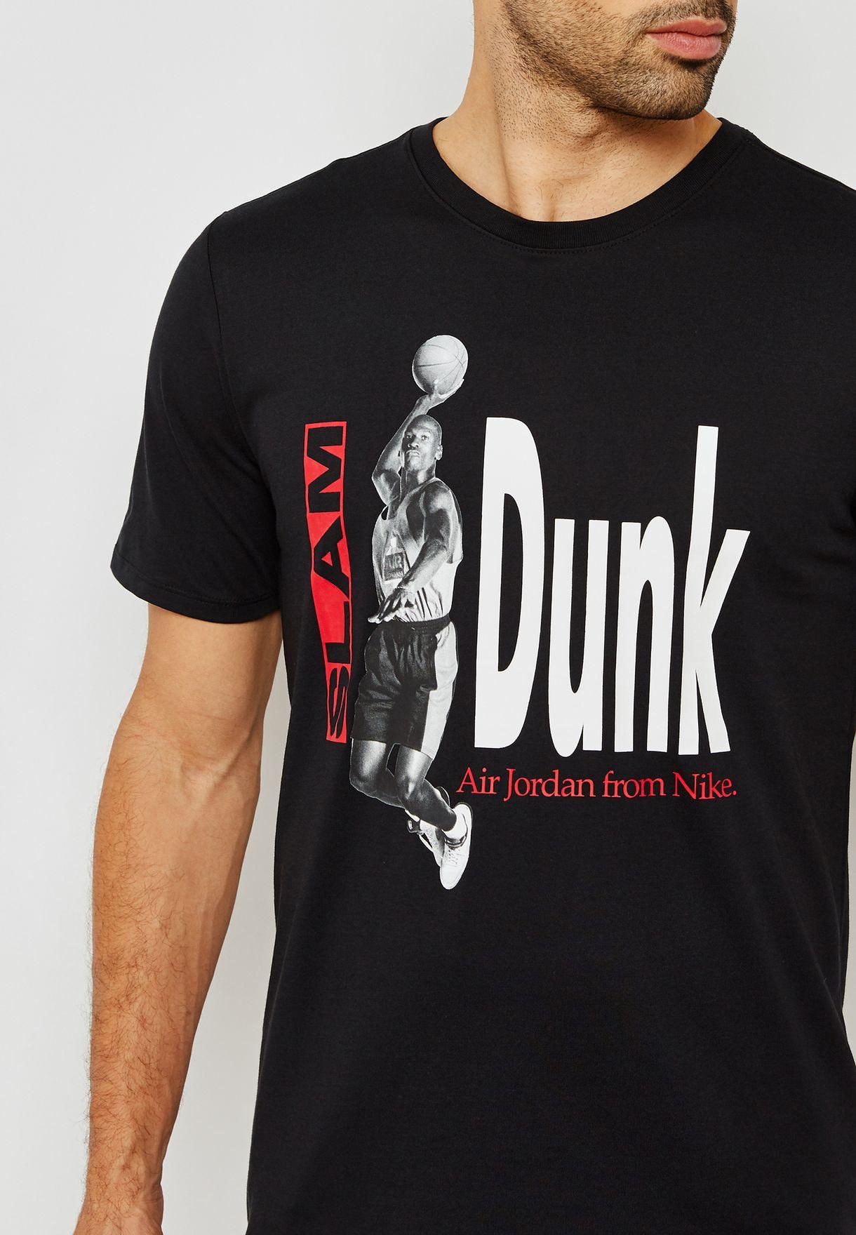 652207b39f44 Shop Nike black Slam Dunk T-Shirt 939614-010 for Men in UAE ...