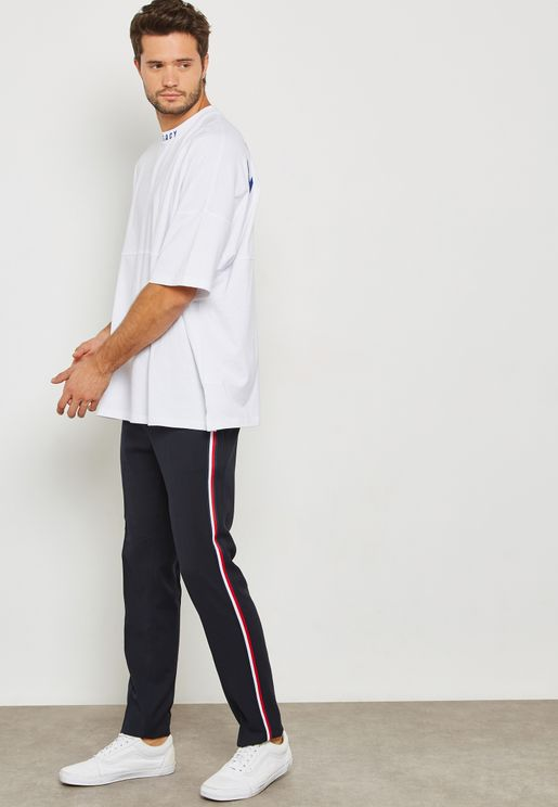 Side Taping Skinny Trousers