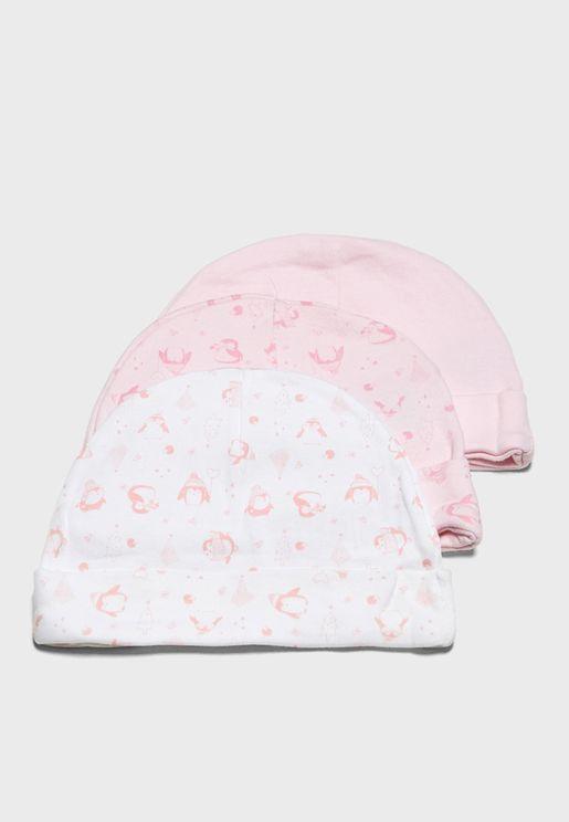مجموعة قبعات للاطفال (3 قطع)