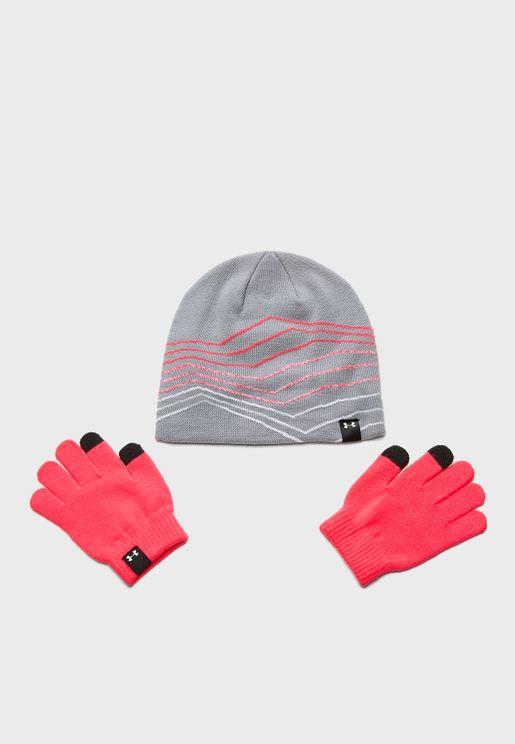 Logo Beanie & Gloves Set