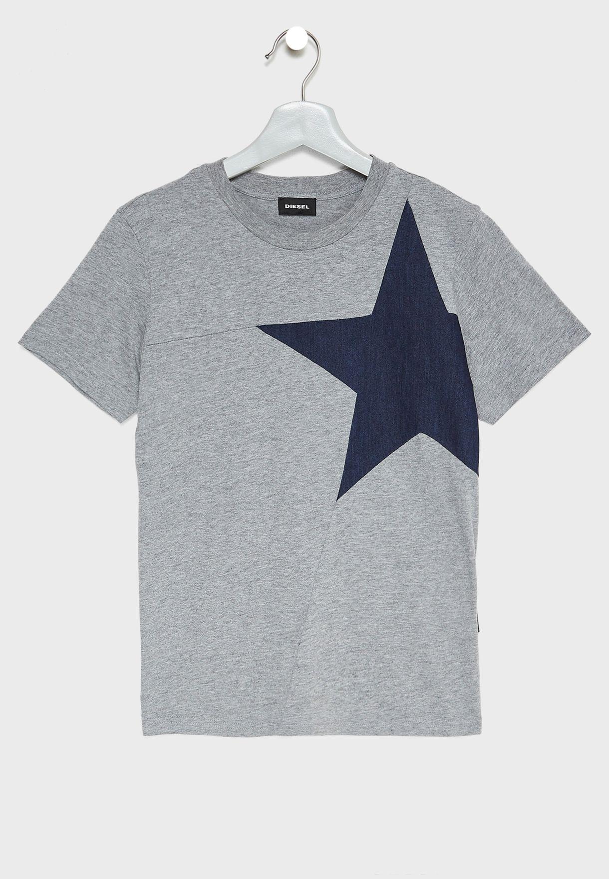 Teen Denim Detail T-Shirt