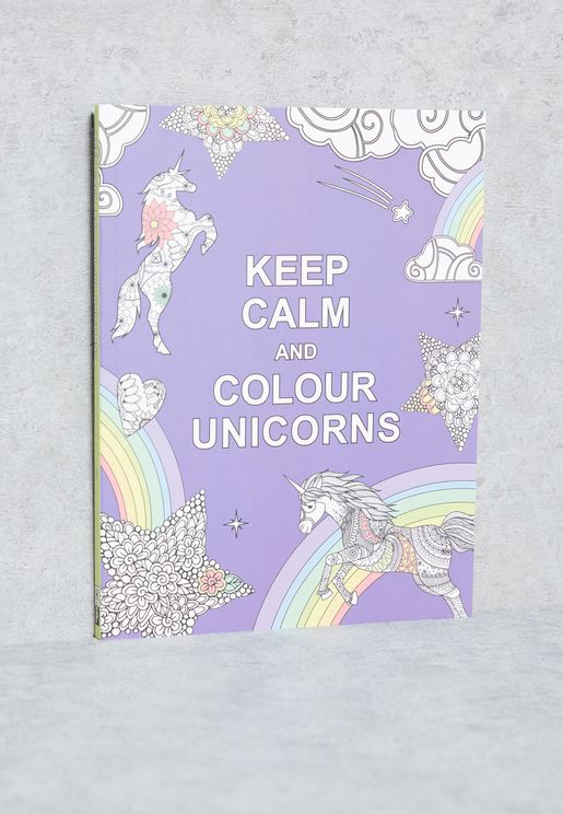 كتاب( Keep Calm & Colour Unicorns)