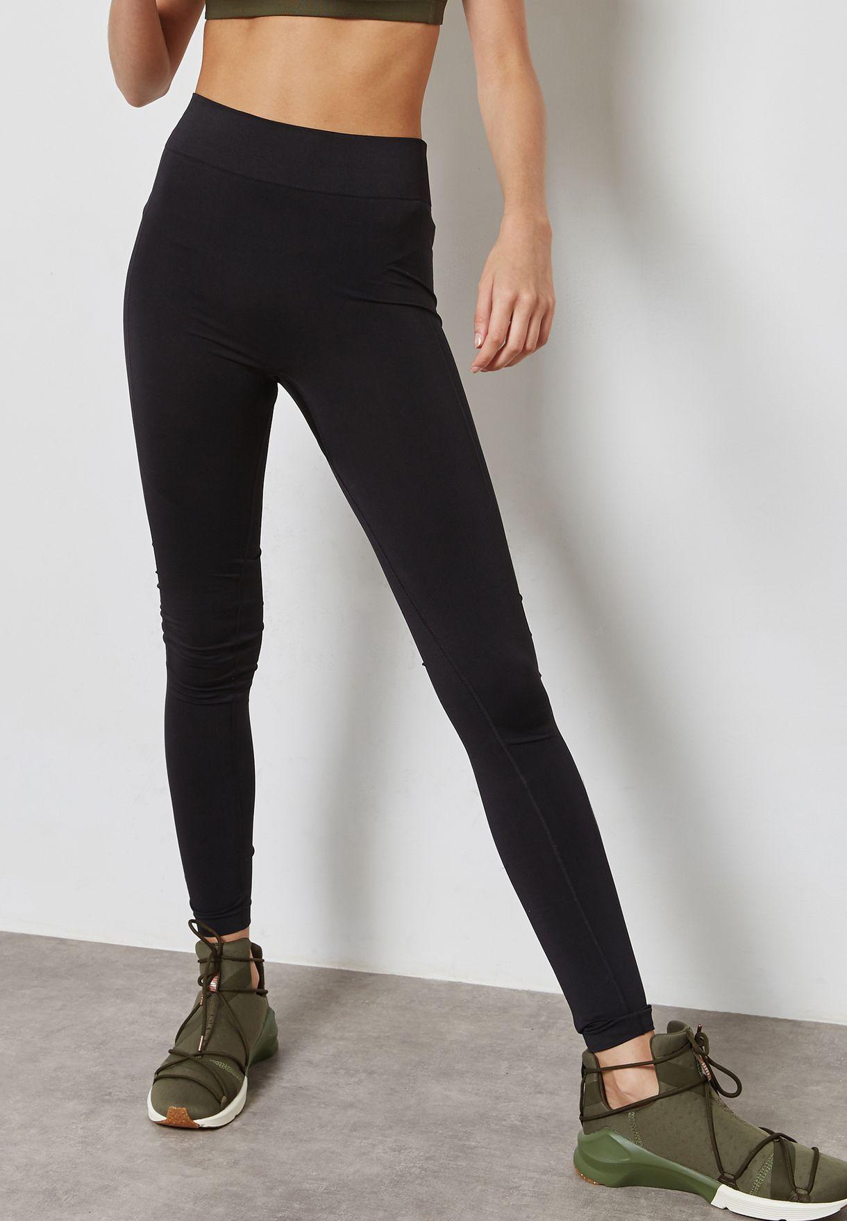 a863adc8a7ecfd Shop PUMA black evoKNIT Leggings 59233301 for Women in UAE ...