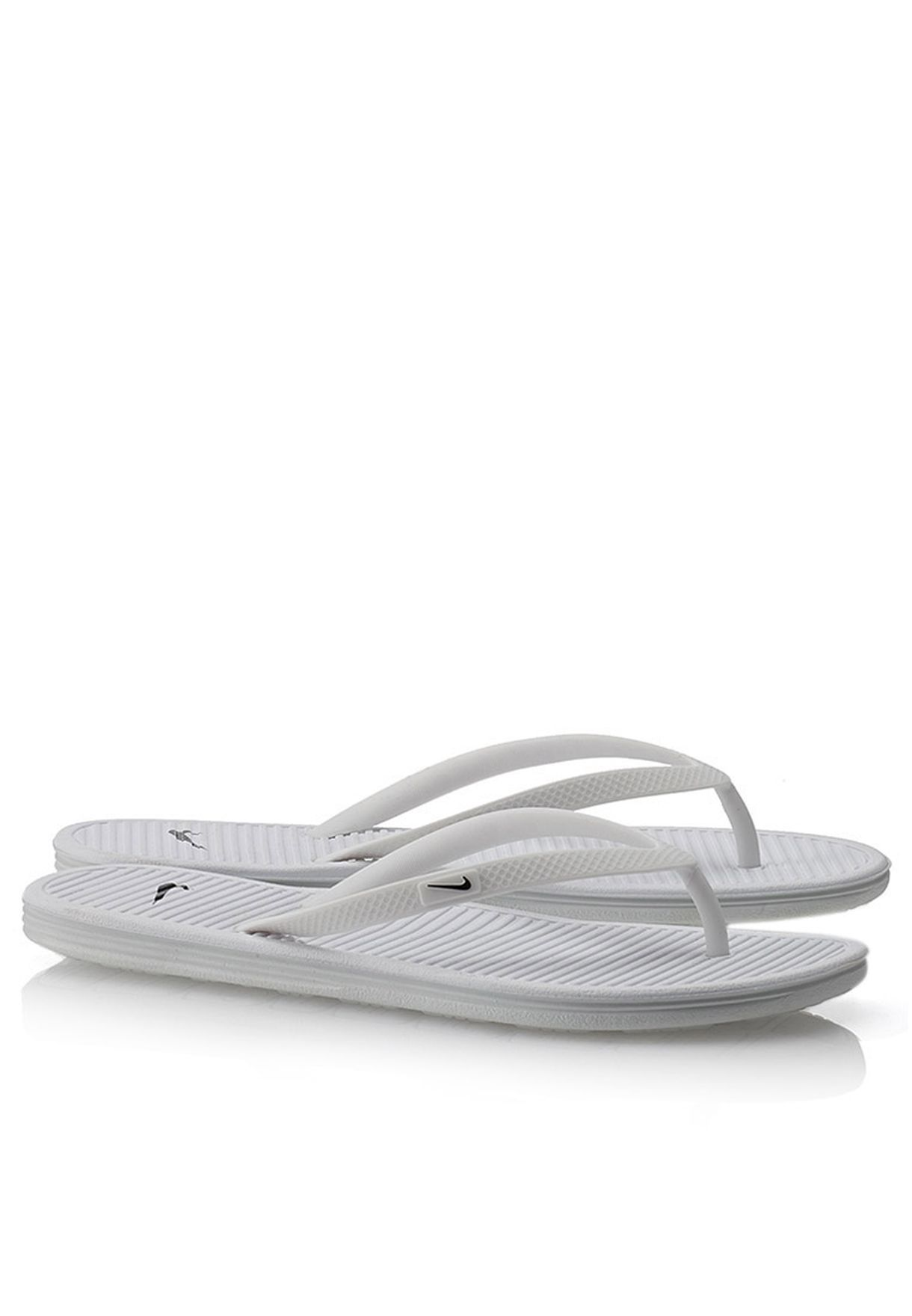 f66892a34aeb Shop Nike white Solarsoft Thong II Flip Flops 488161-103 for Women ...