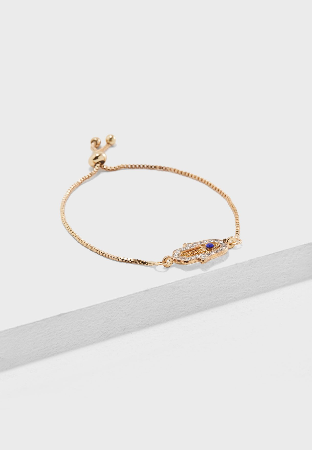 Shop Ella Gold Hamsa Hand Bracelet FJ18815 For Women In UAE