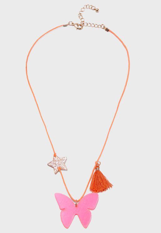 Kids Butterfly Necklace