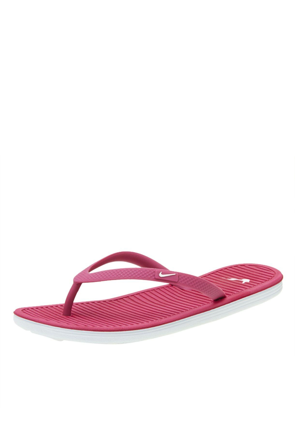 363dc9138ff6 Shop Nike pink Solarsoft Thong II 488161-601 for Women in UAE ...