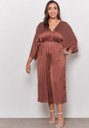 68596c40ac6 Shop Missguided Curve prints Kimono Sleeve Polka Dot Culotte Jumpsuit  WXV9776340 for Women in UAE - MI796AT52MID