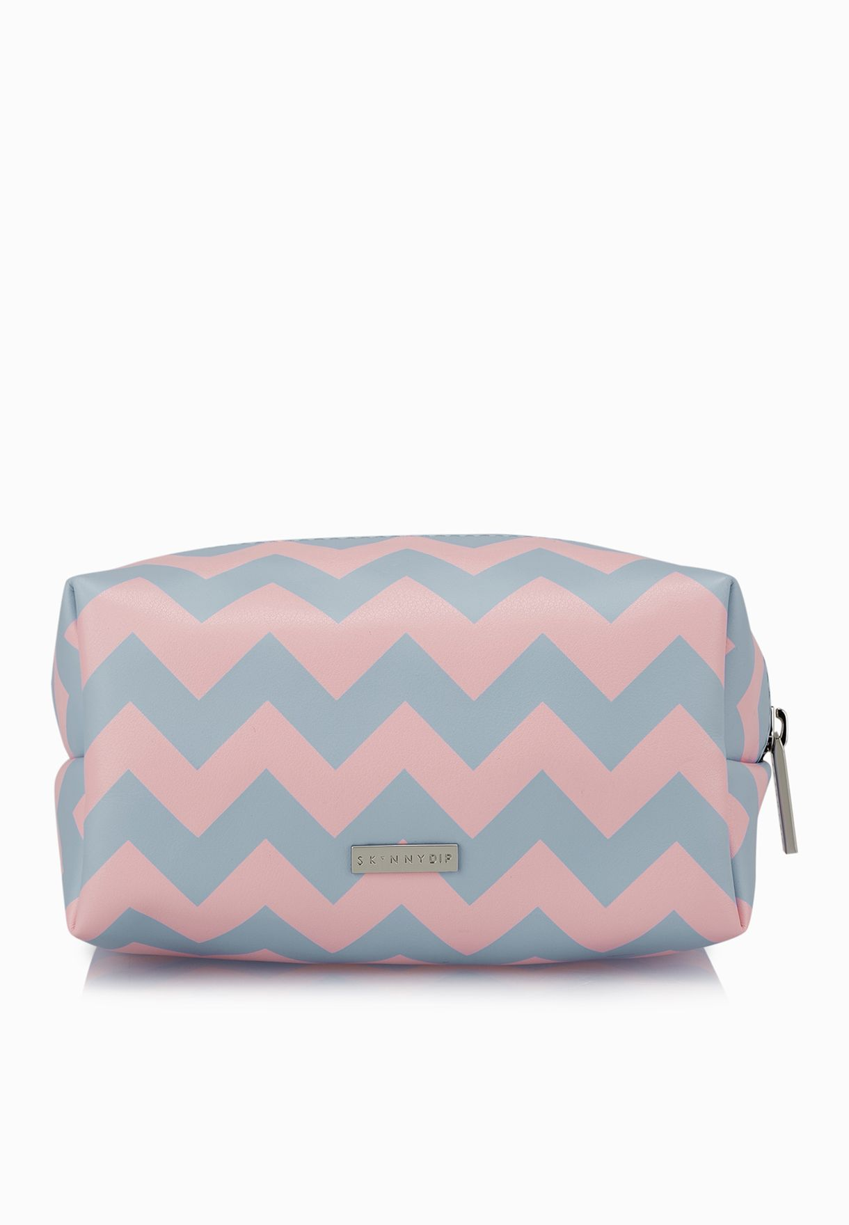 Shop Skinny dip london multicolor Chevron Cosmetic Bag for Women in ... e05dce42408a4