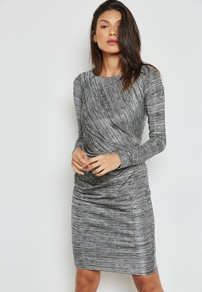 Marl Ruched Dress