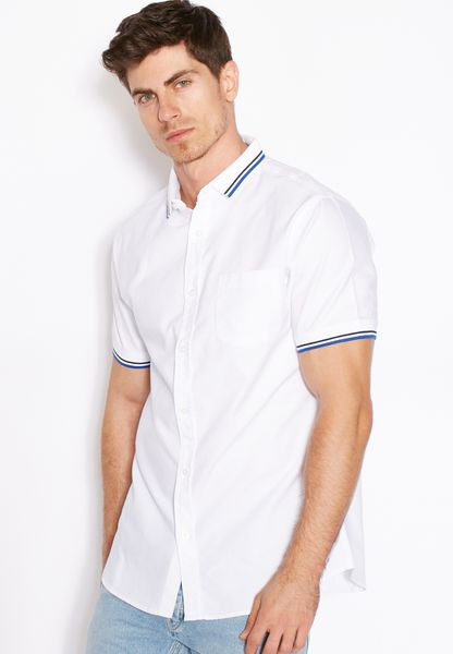 Contrast Tipping Oxford Shirt