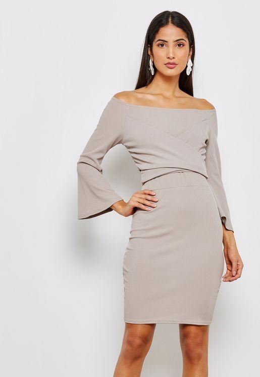 Bardot Bodycon Mini Dress