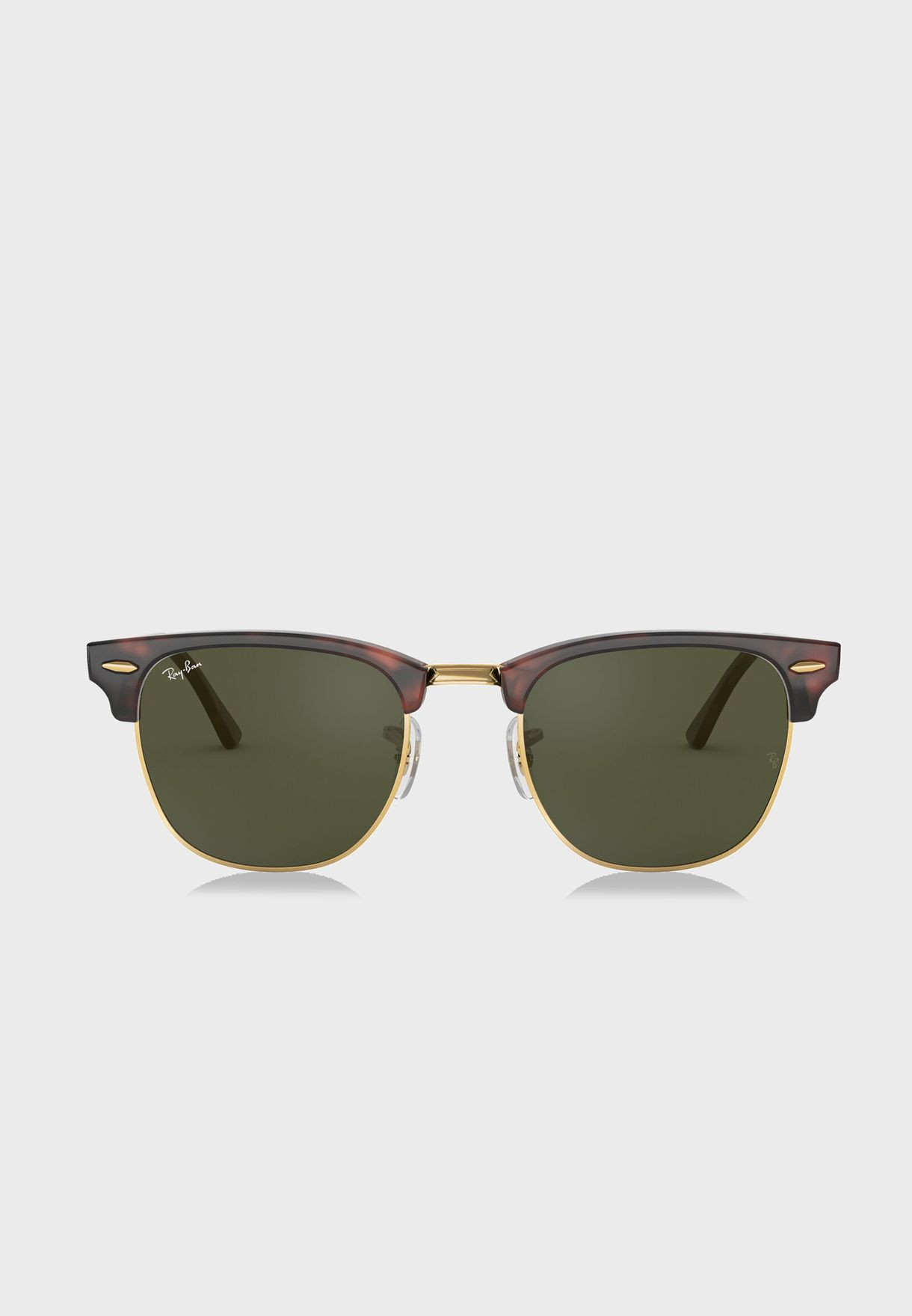 28ac0b0597 Shop Ray-Ban browns 0RB3016 Clubmaster Classic 805289304456 for Men ...