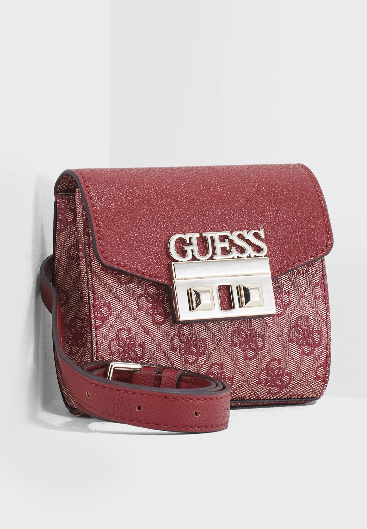 4493eb6421 Shop Guess red Luxe Bum Bag SG710280RED for Women in Saudi ...