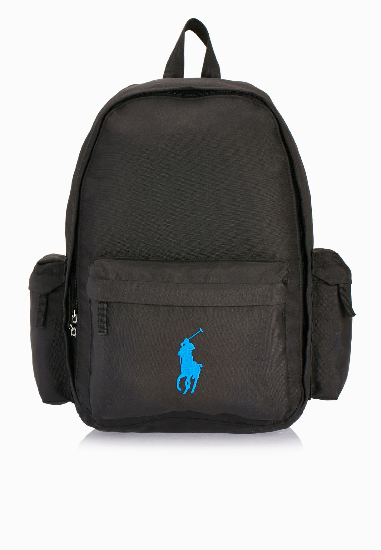 Shop Polo Ralph Lauren black Classic Pony Backpack 950242 for Kids ... 17622c1dc8b29