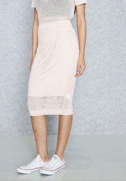 Cable Knit Mini Skirt