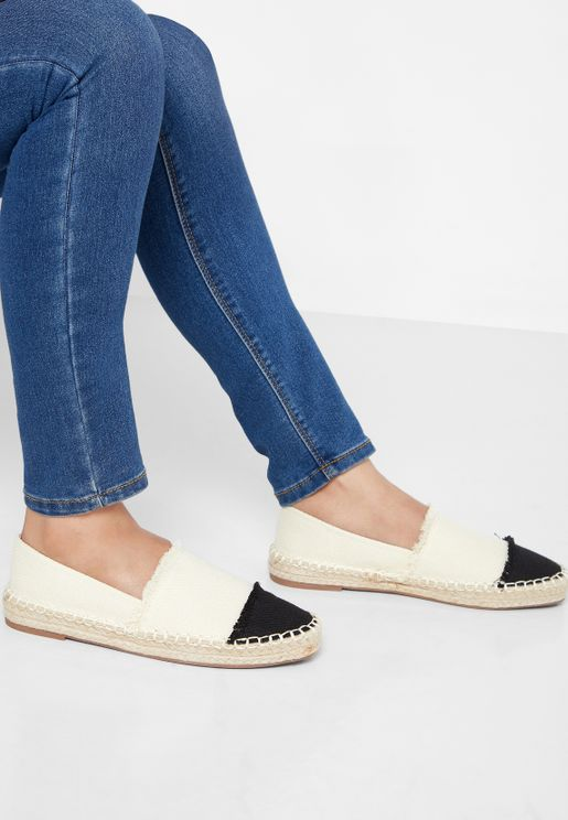 Colourblock Espadrilles With Fringe Detail