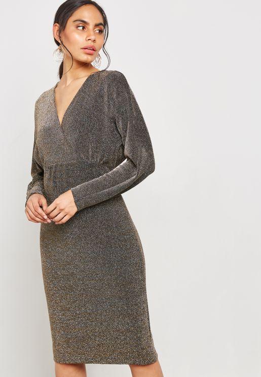 Sparkle Batwing Dress