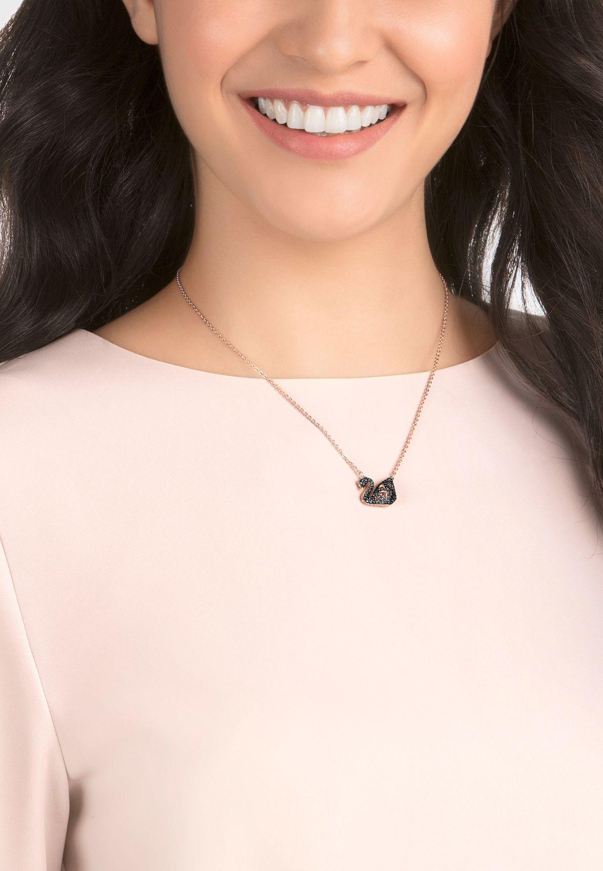 Facet Swan Necklace