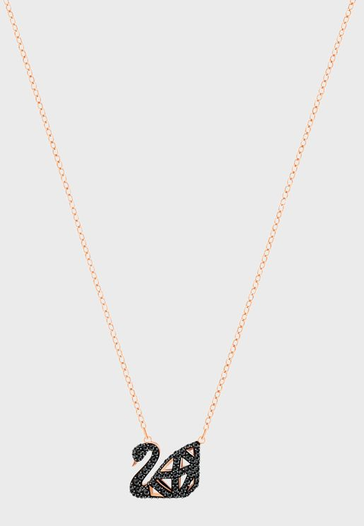 Facet Swan Necklace