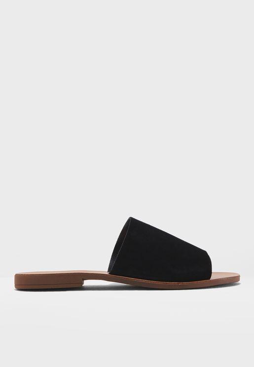 Sue Mule Flat Sandals