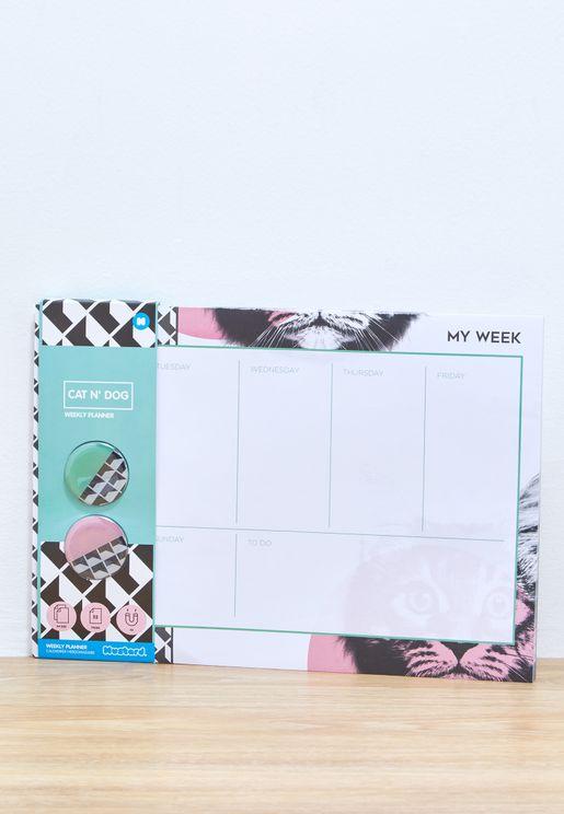 دفتر تخطيط اسبوعي