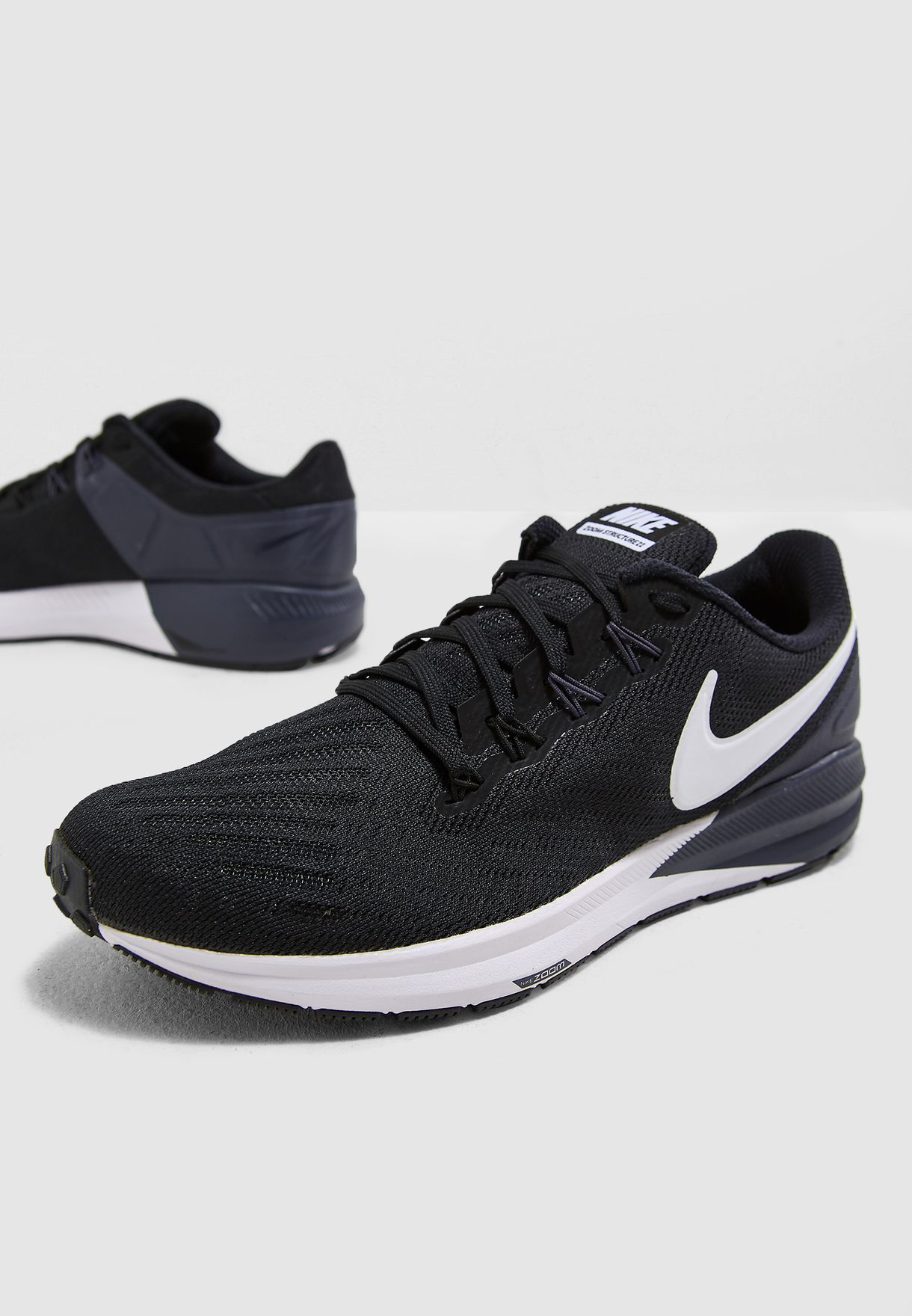 e414fc150bb9 Shop Nike black Air Zoom Structure 22 AA1636-002 for Men in UAE ...