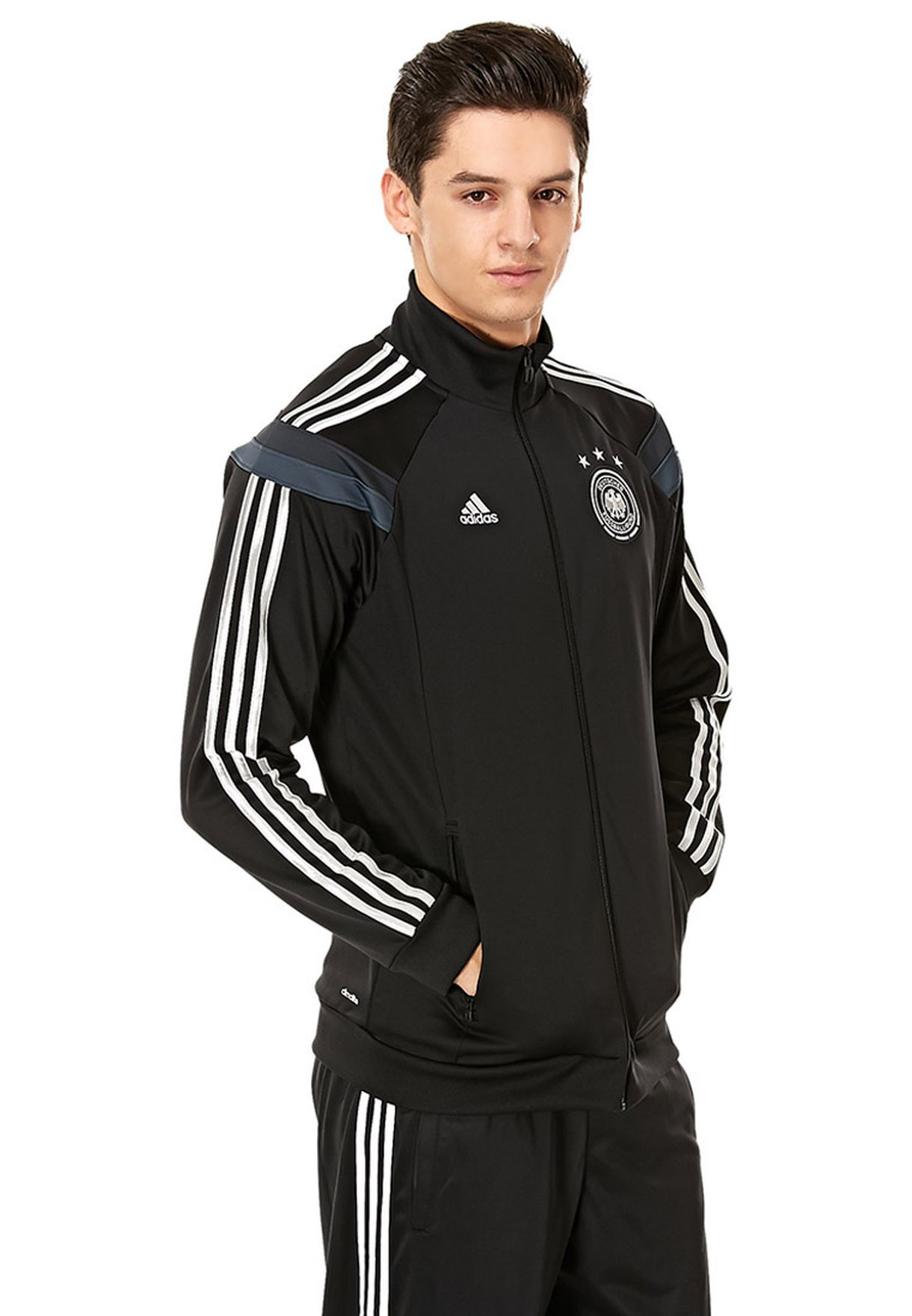 0bf872d54b65 Shop adidas black DFB Germany Track Jacket F40892 for Men in UAE ...