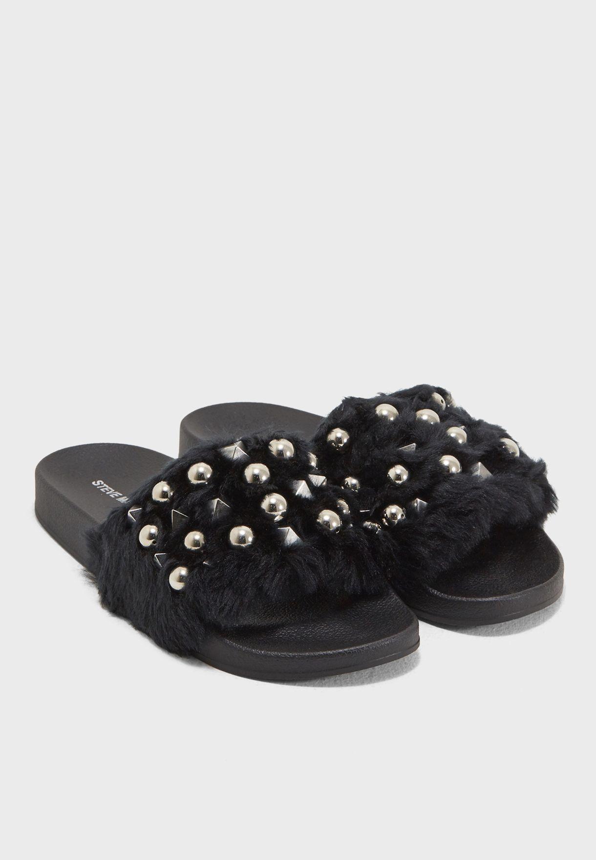 fc7305e22a6 Shop Steve Madden black Yeah Flat Sandals YEAH for Women in UAE ...