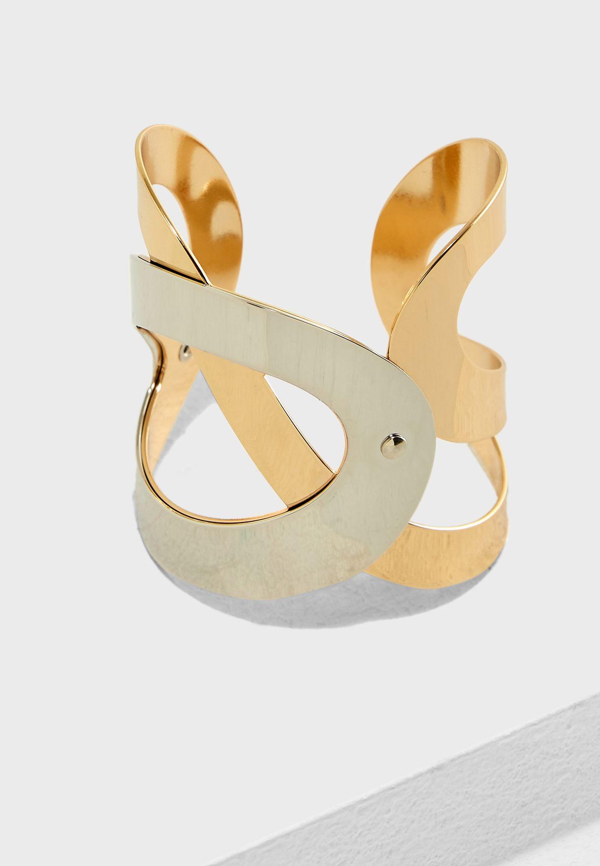 Chunky Two Tone Bracelet