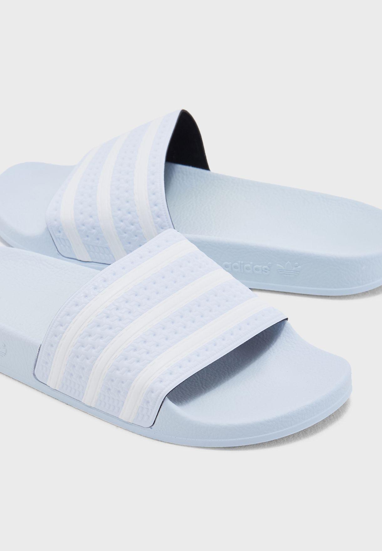 eb0a86f81 Shop adidas Originals blue Adilette Slides AQ1068 for Men in UAE ...