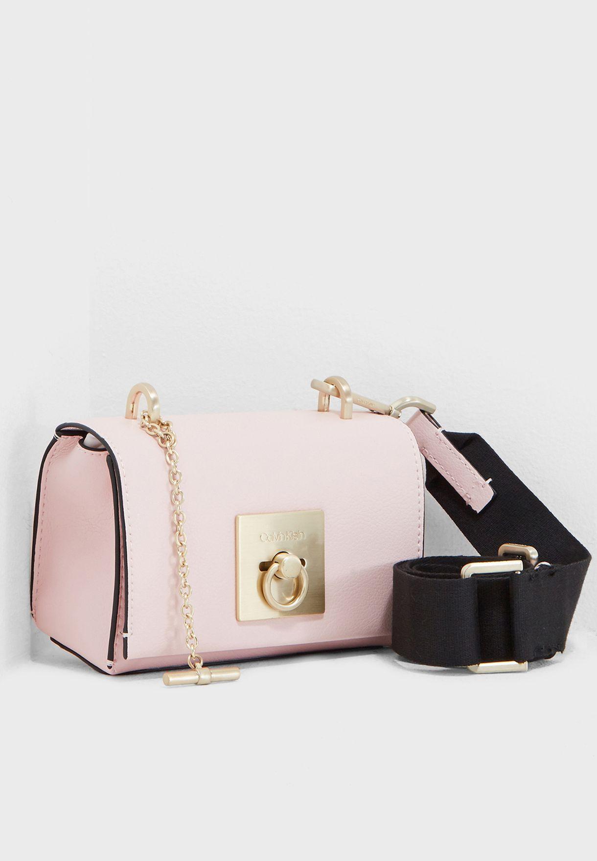 8e3d95e60ba Shop Calvin Klein pink Lock Small Flap Crossbody K60K604890 for ...