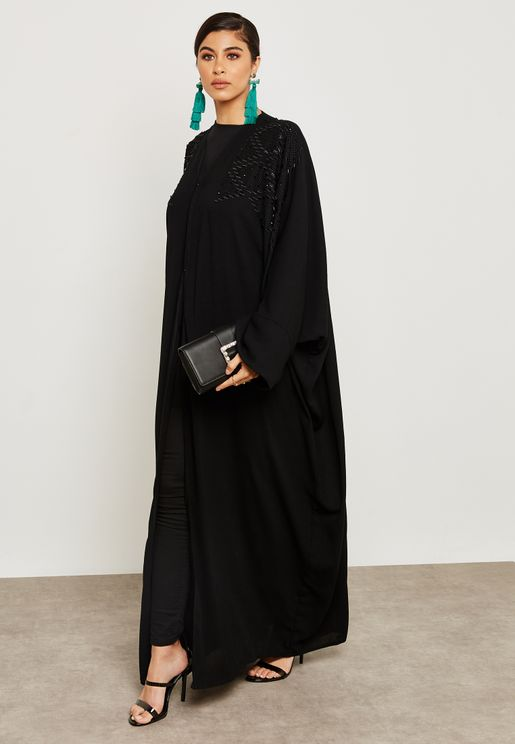 Beaded Embroidered Abaya