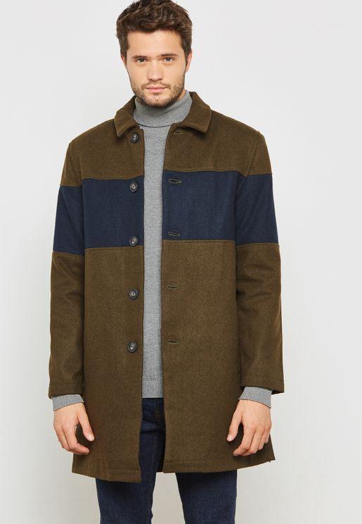 Chest Panelled City Coat