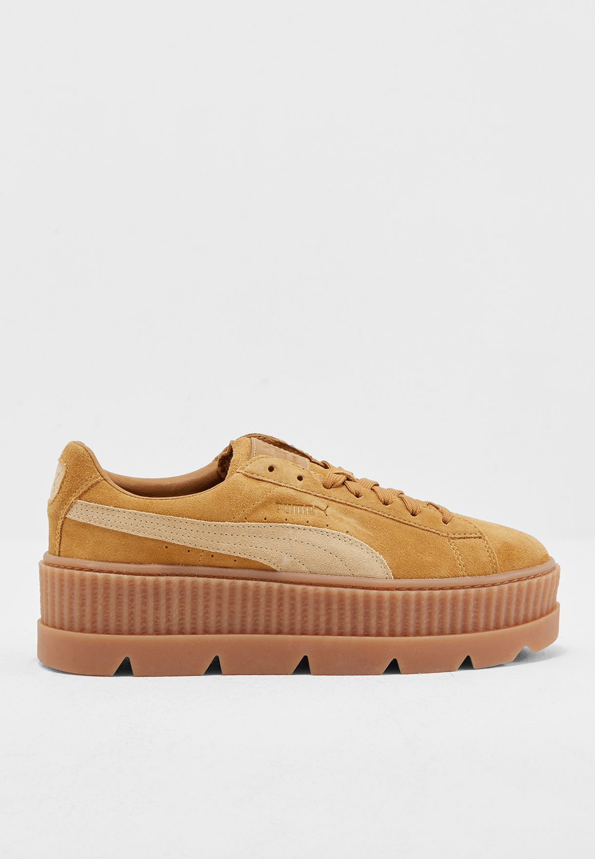 b676df4e8fe Shop PUMA x Fenty browns Fenty Cleated Creeper Suede 36626802 for ...