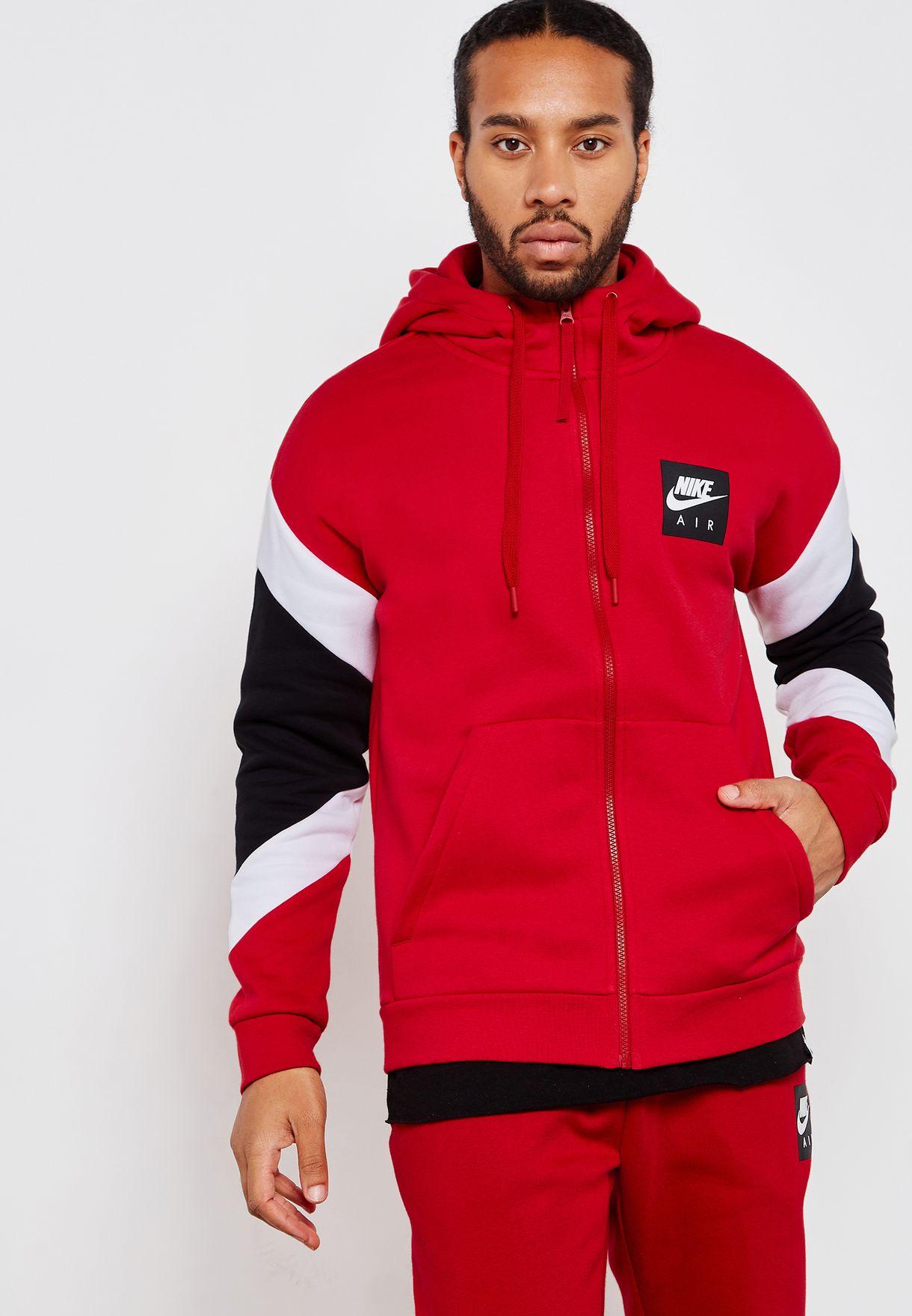 Shop Nike red Air Fleece Hoodie 928629-687 for Men in Saudi - NI727AT52SVJ 35b40e7b20