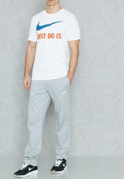 Club Jersey Open Hem Sweatpants. Nike