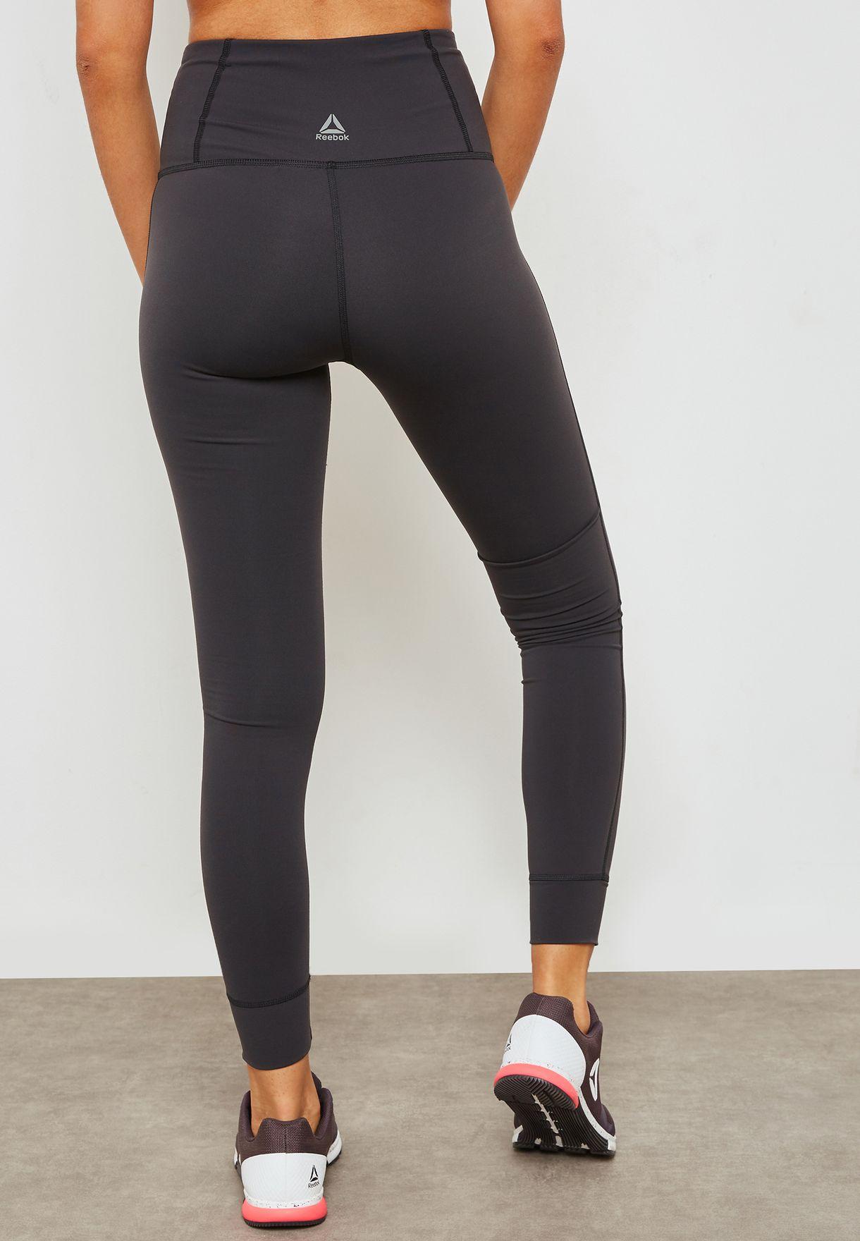 9705b94a879ea Shop Reebok black Lux High Rise Leggings BR5244 for Women in Bahrain ...