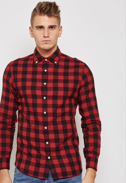 Slim Ffit Checked Shirt