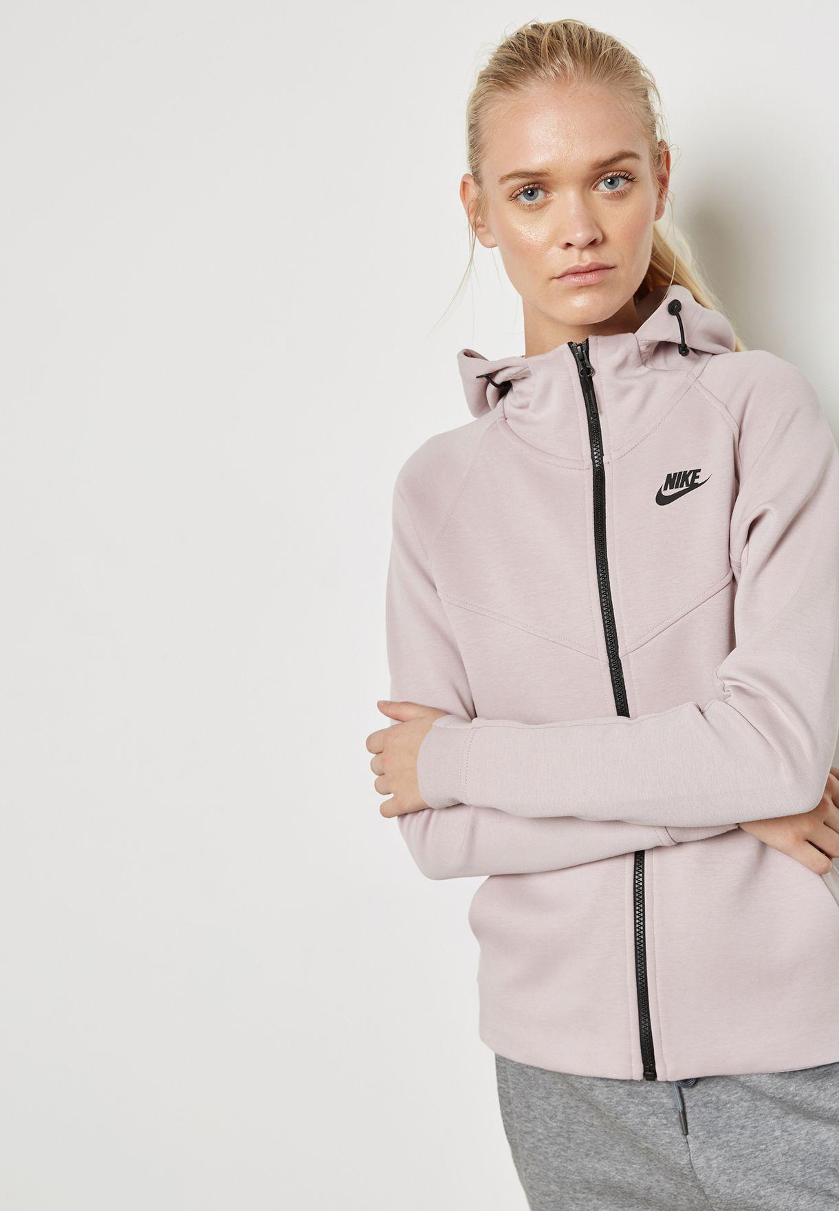 7e04f815f072 Shop Nike pink Tech Fleece Hoodie 842845-684 for Women in Saudi ...