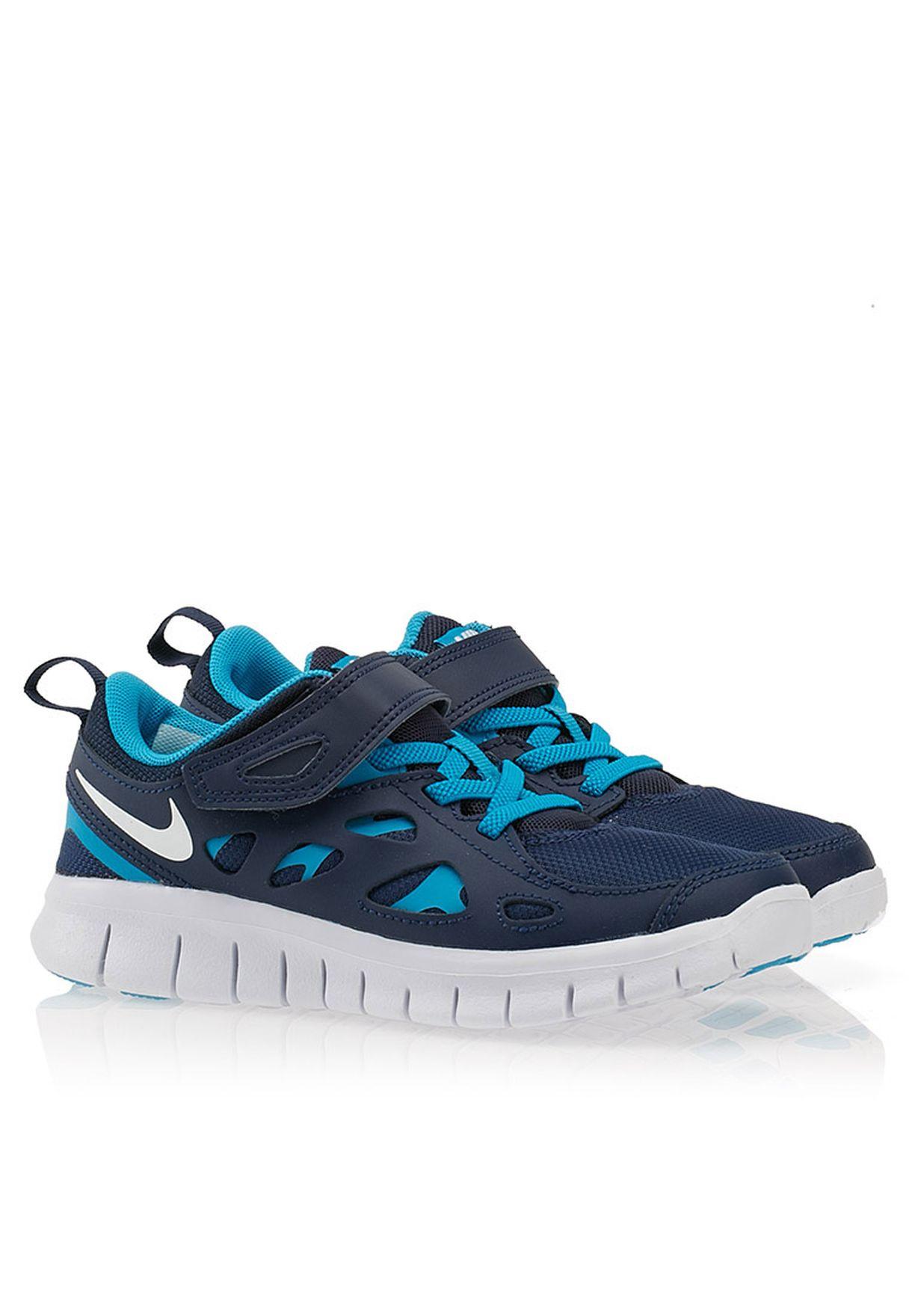 wholesale dealer f85f5 c0c3d Shop Nike blue Free Run 2 Kids 443743-406 for Kids in Qatar - NI727SH52PYD