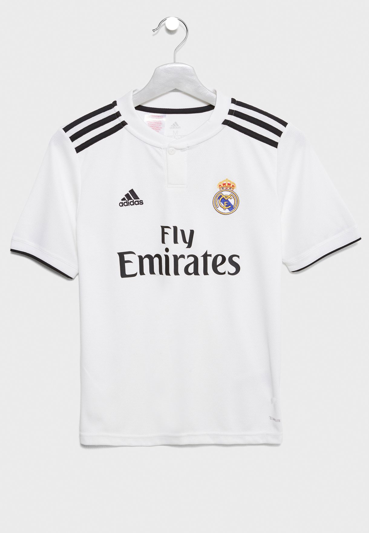 4a83de5fa Shop adidas white Youth Real Madrid 18 19 Home Jersey CG0554 for ...