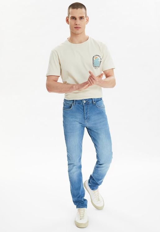 Essential Mid Wash Skinny Fit Jeans