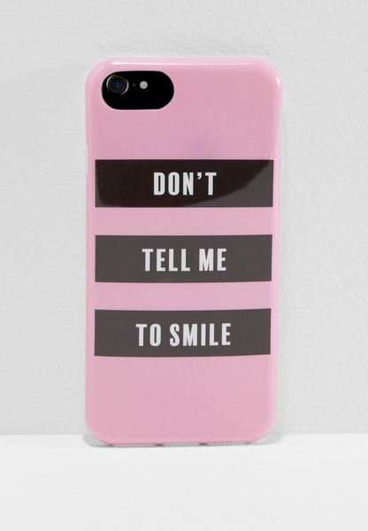 Don't Tell Me To Smile iPhone 6/7/8 Hybrid Case
