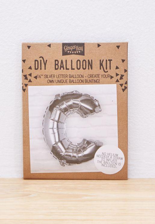 C Initial Foil Balloon