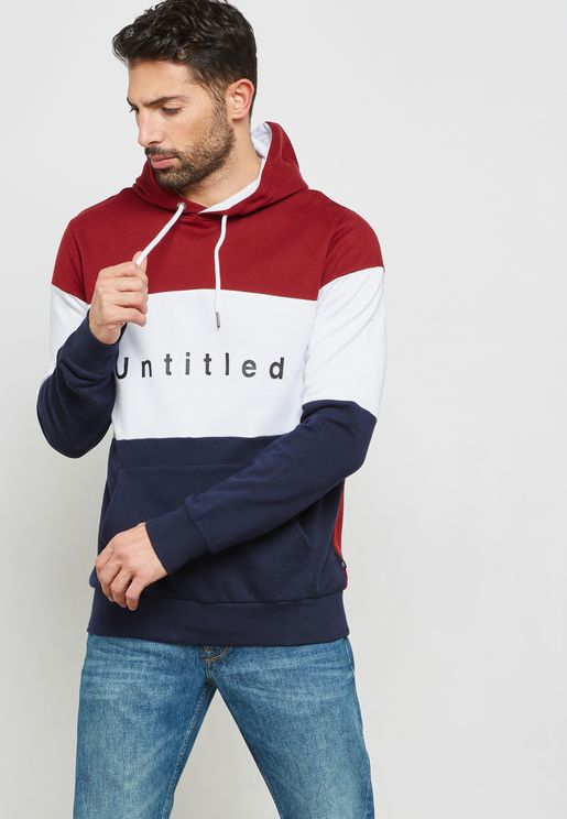 Untitled Colour Block Hoodie