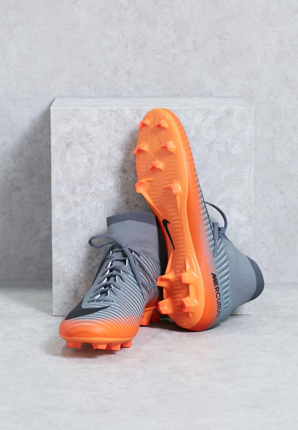 3f1cdf97b Shop Nike grey Mercurial Victory VI CR7 DF FG 903605-001 for Men in ...