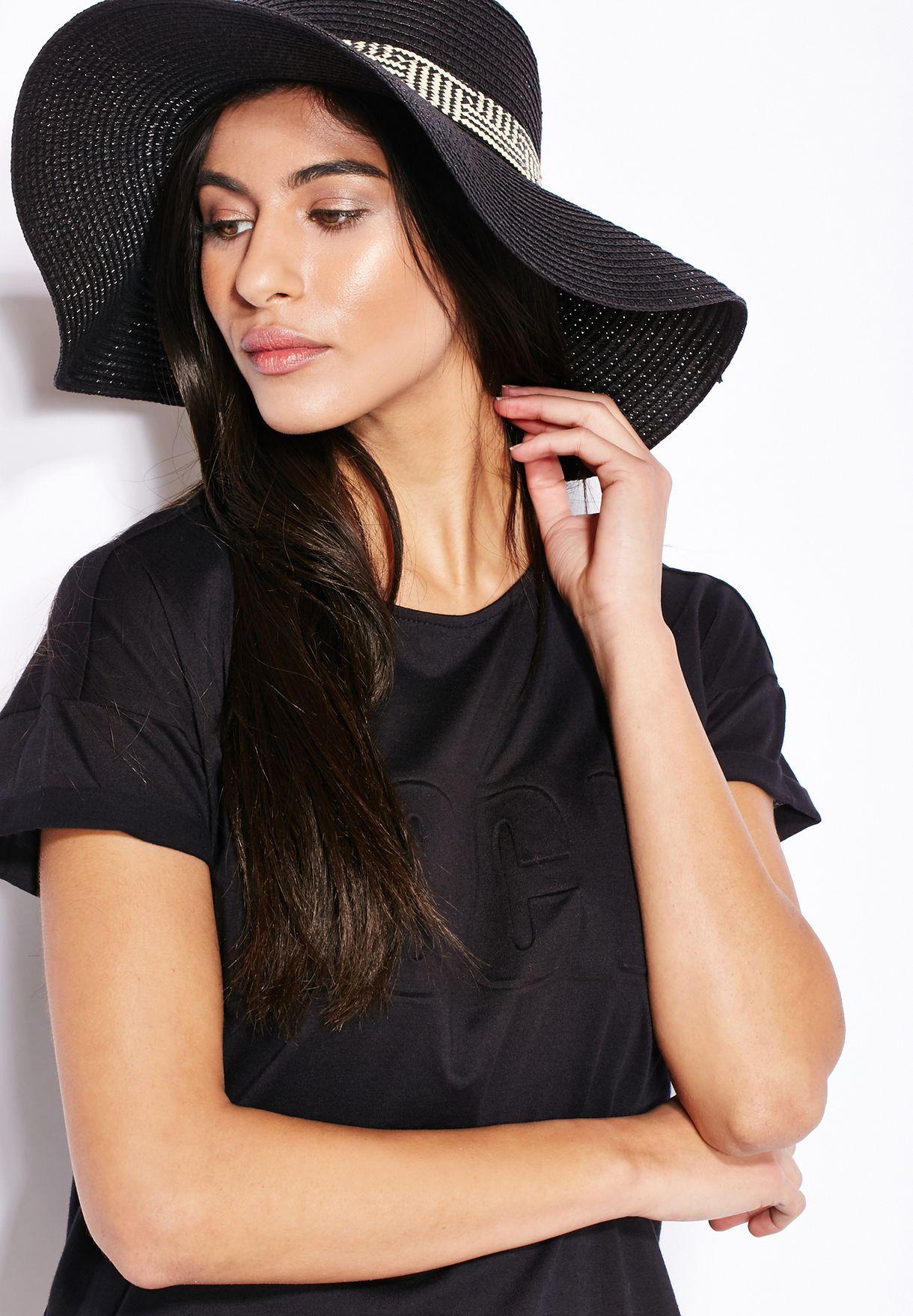 792613fe Shop Funky Fish black Wide Brim Hat for Women in UAE - FU886AC52QQH