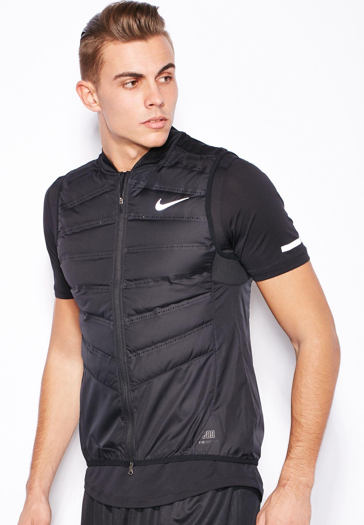 0181a2008529 Shop Nike black Aeroloft 800 Vest 683912-010 for Men in UAE ...