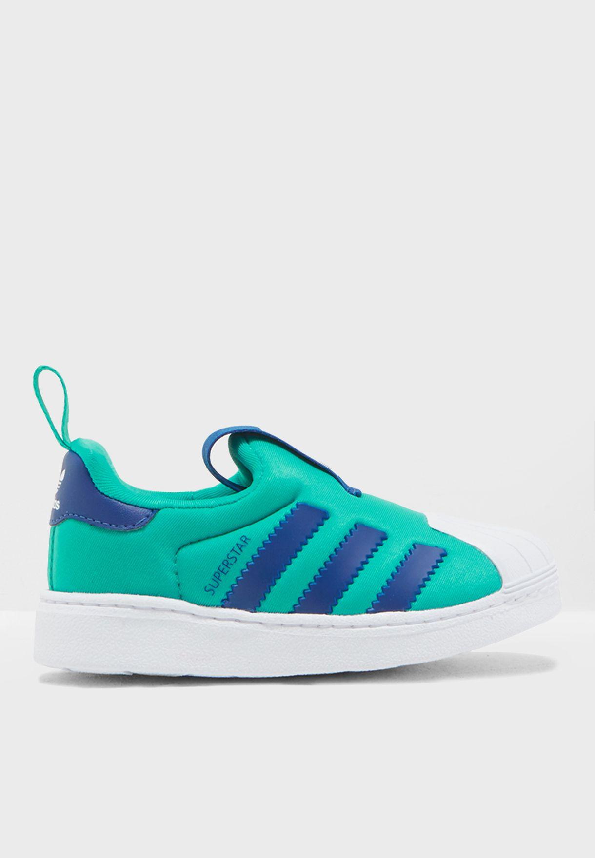 0499bc66d72c4 Shop adidas Originals green Infant Superstar 360 B75621 for Kids in ...